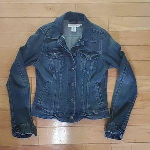 H&M LOGO fitted stretch denim jean jacket 6